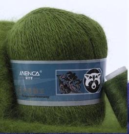 Пряжа Пух норки 833 трава