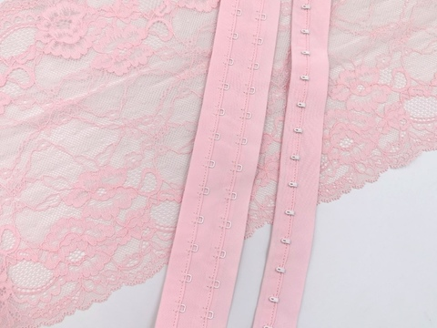 Крючки-петли на ленте, розовая иллюзия, (Арт: KPL-320)