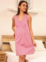Мамаландия. Сорочка для беременных и кормящих с кнопками, горох/бордовый (пудровый)