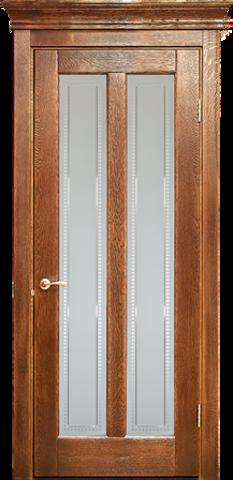Дверь Лидер-Альверо Мария (черный орех, остекленная, массив дуба)