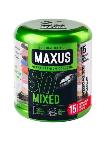 Презервативы в металлическом кейсе MAXUS Mixed - 15 шт.