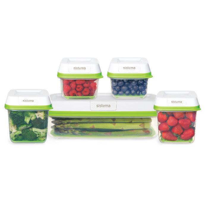 """Набор пищевых контейнеров Sistema """"FreshWorks"""" 5шт."""
