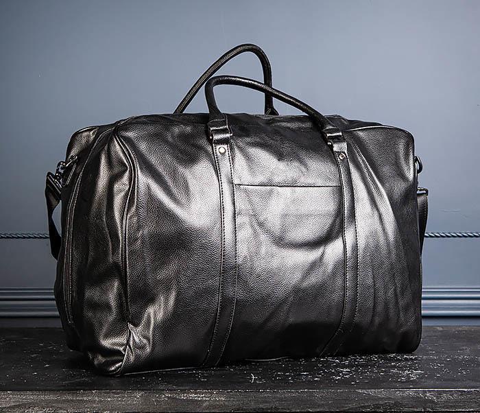 BAG521-1 Кожаная дорожная сумка с ручками и ремнем фото 04