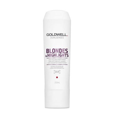 Кондиционер против желтизны для осветленных волос, Goldwell Dualsenses Blondes & Highlights Anti-Yellow Conditioner, 200 мл.