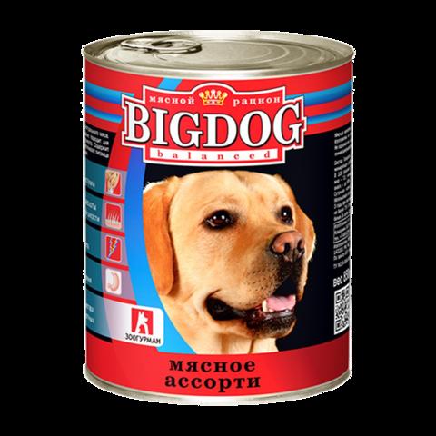 Зоогурман Big dog Консервы для собак с мясным ассорти
