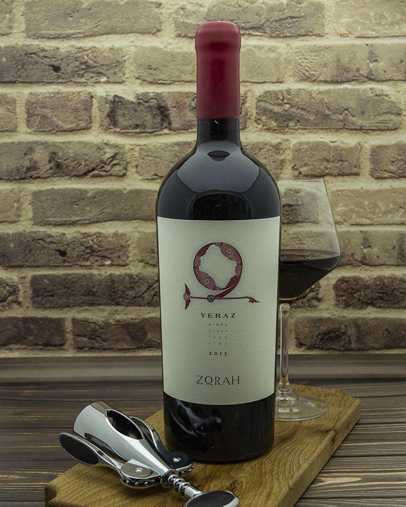 Вино Zorah Ераз Сухое Красное Выдержанное 2013 г.у. 13,5% 1,5 л.