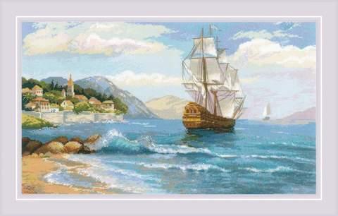 Набор для вышивания крестом «К далеким берегам» (1900)