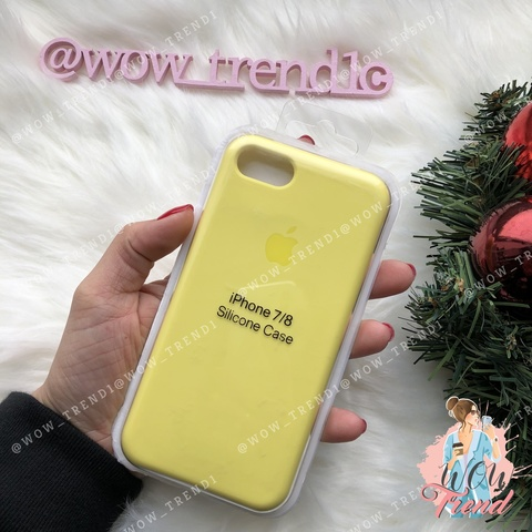 Чехол iPhone 7/8 Silicone Case /flash/ лимонный original quality