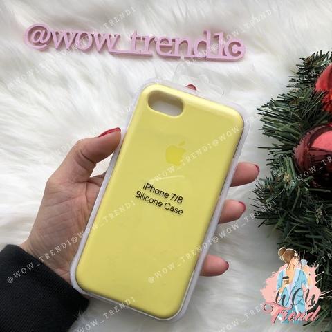 Чехол iPhone 7/8 Silicone Case /flash/ лимонный original quality