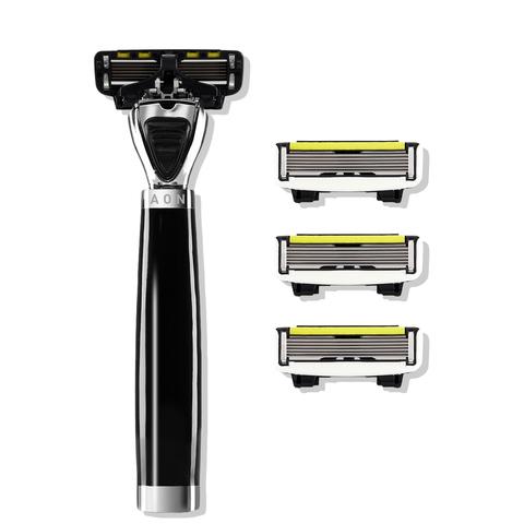 Shave Lab AON Бритва для мужчин Черный/серебро, комплект 6 лезвий х 4шт.