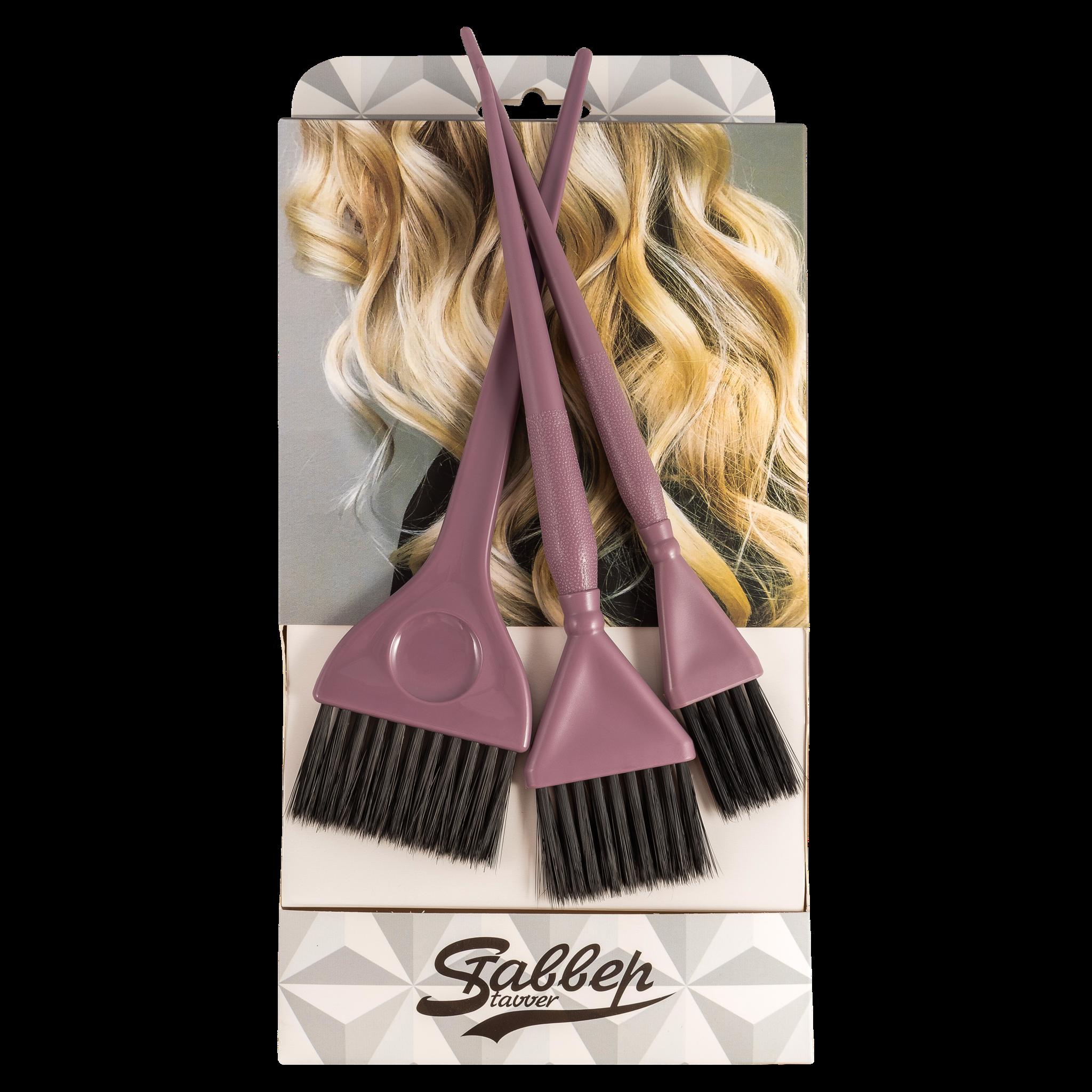 Набор кистей для окрашивания волос Stavver Color Set 3шт/уп