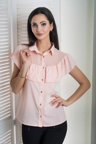 Лея. Сучасна стильна молодіжна сорочка. Пудра