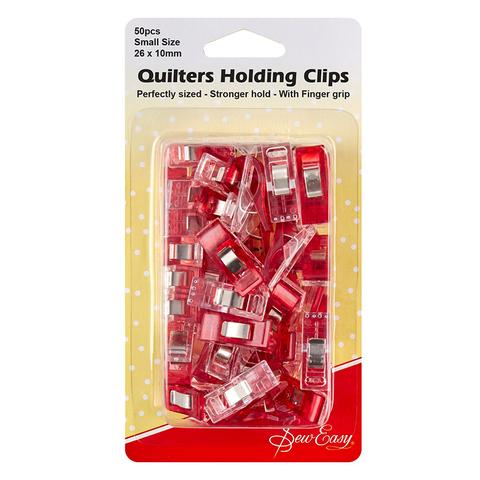 Клипсы для квилтинга, 26*10 мм, пластик, цвет красный (арт ER230.S.50/G002)