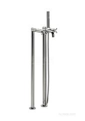LOFT Смеситель для ванны-душа напольного монтажа с ручным душем 1-режим, гибким шлангом Roca 5A2743C00 фото