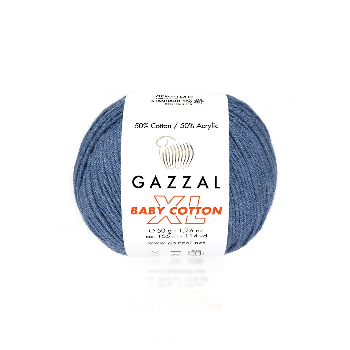 Пряжа Gazzal Baby Cotton XL 3431 джинс