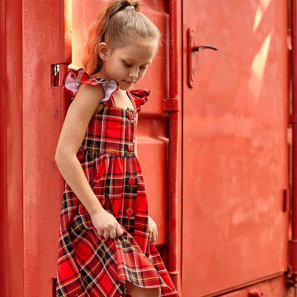 Дитячий сарафан в клітку