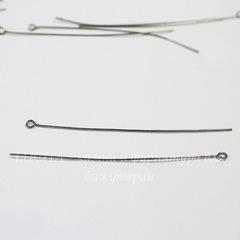 Комплект штифтов с петлей 70х0,7 мм (цвет - черный никель), 20 гр (примерно 90 шт)
