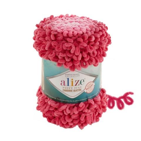 Пряжа Alize Puffy Fine Ombre Batik цвет 7279