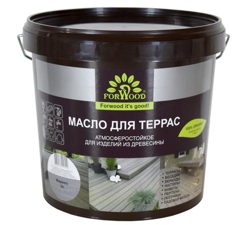 Forwood масло для террас содержащее воск 3л  вд-пф 1601T Бесцветный
