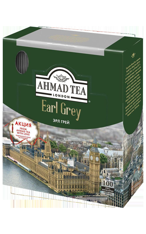 Ahmad tea Earl grey в пакетиках, 100 шт
