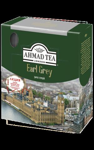 Чай черный Ahmad tea Earl grey в пакетиках, 100 шт