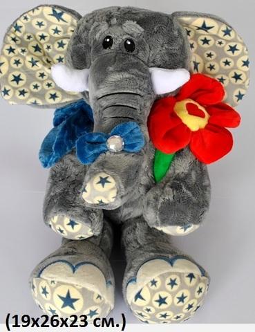 Н17101 Слон с цветком 19х26х23см