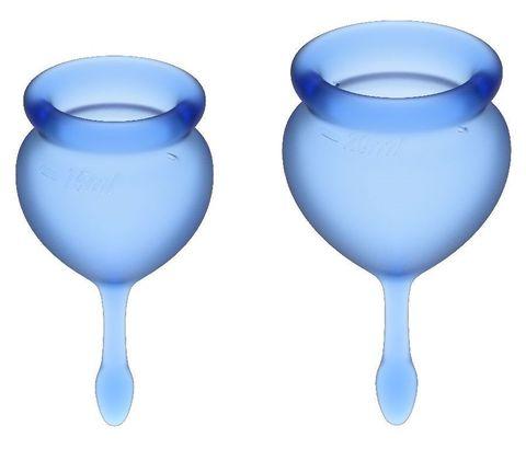 Набор синих менструальных чаш Feel good Menstrual Cup