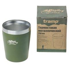Термостакан Tramp металлический TRC-101, оливковый, 250мл - 2