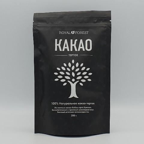 Какао тертое натуральное ROYAL FOREST, 200 гр