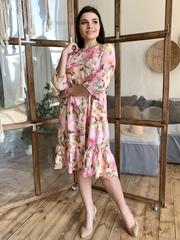 Дорі. Легке молодіжне весняне плаття з воланом. Рожевий