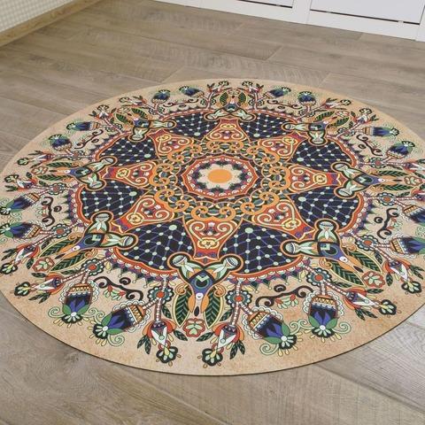Коврик для йоги и медитации Птички из замши и каучука 140*140 см