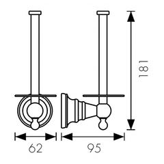 Держатель для туалетной бумаги KAISER Arno BR KH-4220 схема