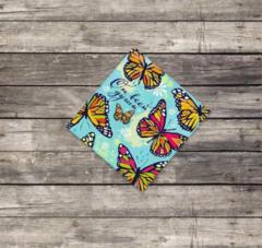 Мини–открытка «Бабочки», 7*7см