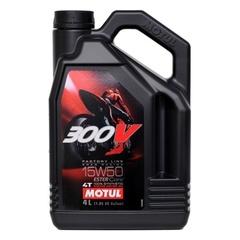 Масло моторное синтетика Motul 300V 4T 15W50 4 литра 104129
