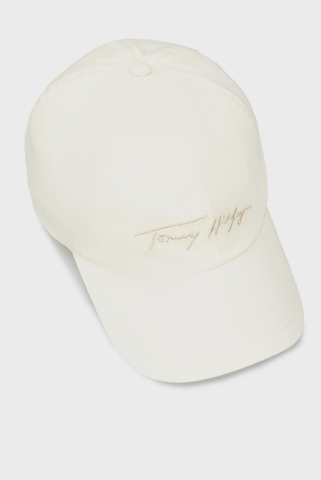 Женская белая кепка SIGNATURE CAP Tommy Hilfiger