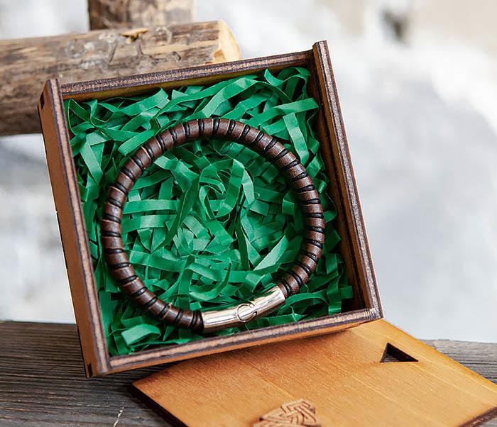 BOX232-2 Деревянная подарочная коробка для браслета (9,5*9,5*3,5 см) фото 06