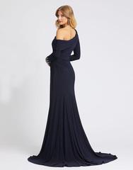 Длинное платье в пол в синем цвете Mac Duggal 1223