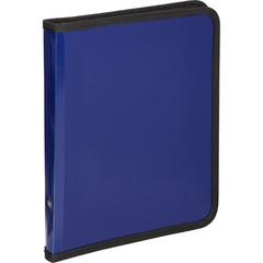 Папка-конверт на молнии плас.синяя  А 5, Attache