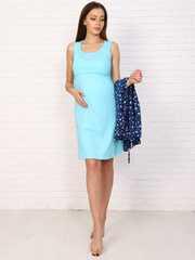 Мамаландия. Комплект для беременных и кормящих, сердечки/темно-синий
