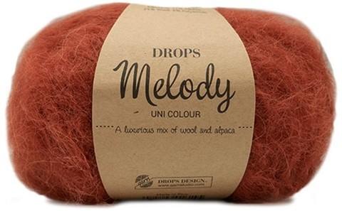 Пряжа Drops Melody 19 кирпичный