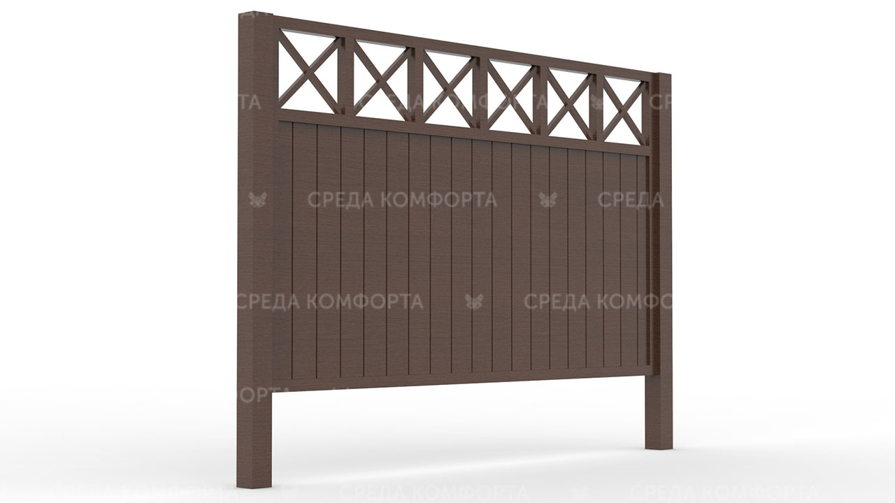 Деревянный забор ZBR0089