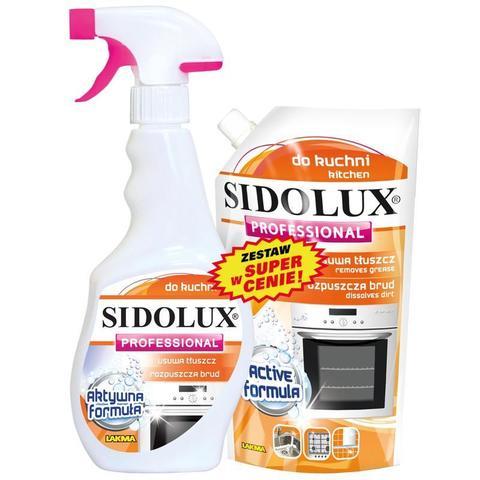 Чистящее средство для кухни Lakma Sidolux Professional 500 мл + Запасной блок Lakma Sidolux Professional 500 мл (промоупаковка)