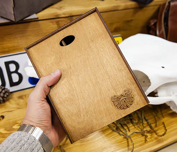 BOX245-2 Подарочная коробка из дерева с тремя отделениями внутри, А6 (19*15*8,5 см) фото 08