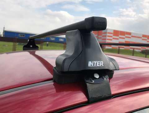 Багажник Интер модельный в штатные места 8896 прямоугольные дуги 120 см.