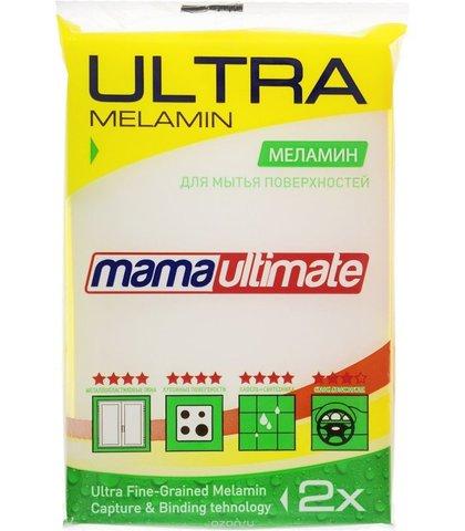 Губка для мытья поверхностей Mama Ultimate меламиновая 1 шт