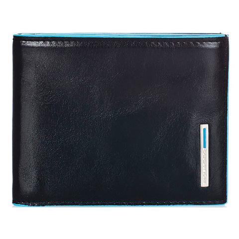 Бумажник Piquadro Blue Square, черный, 10,7x9x1,5 см