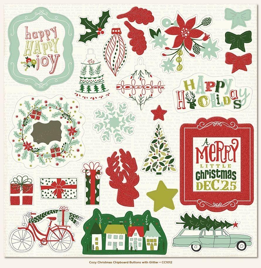 Чипборд  Cozy Christmas 30*30