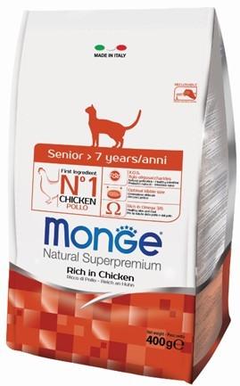 купить Monge Cat корм для пожилых кошек 400г