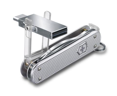 Нож-брелок Victorinox Jetsetter, USB 16 Гб, 58 мм, 6 функций, серебристый