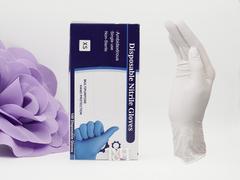 Перчатки нитриловые Белые 50пар (100шт.)/упаков...
